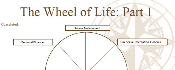 The Balance Wheel Free Worksheet – Life Coaching Worksheets