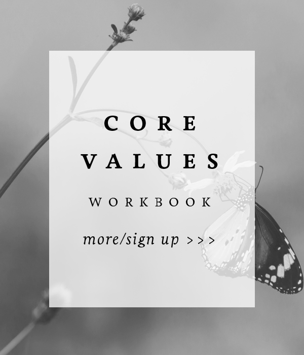 Core Values Workbook Sign Up 2