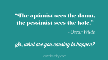 The Optimist Sees the Donut