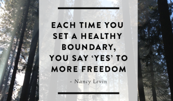 On Healthy Personal Boundaries