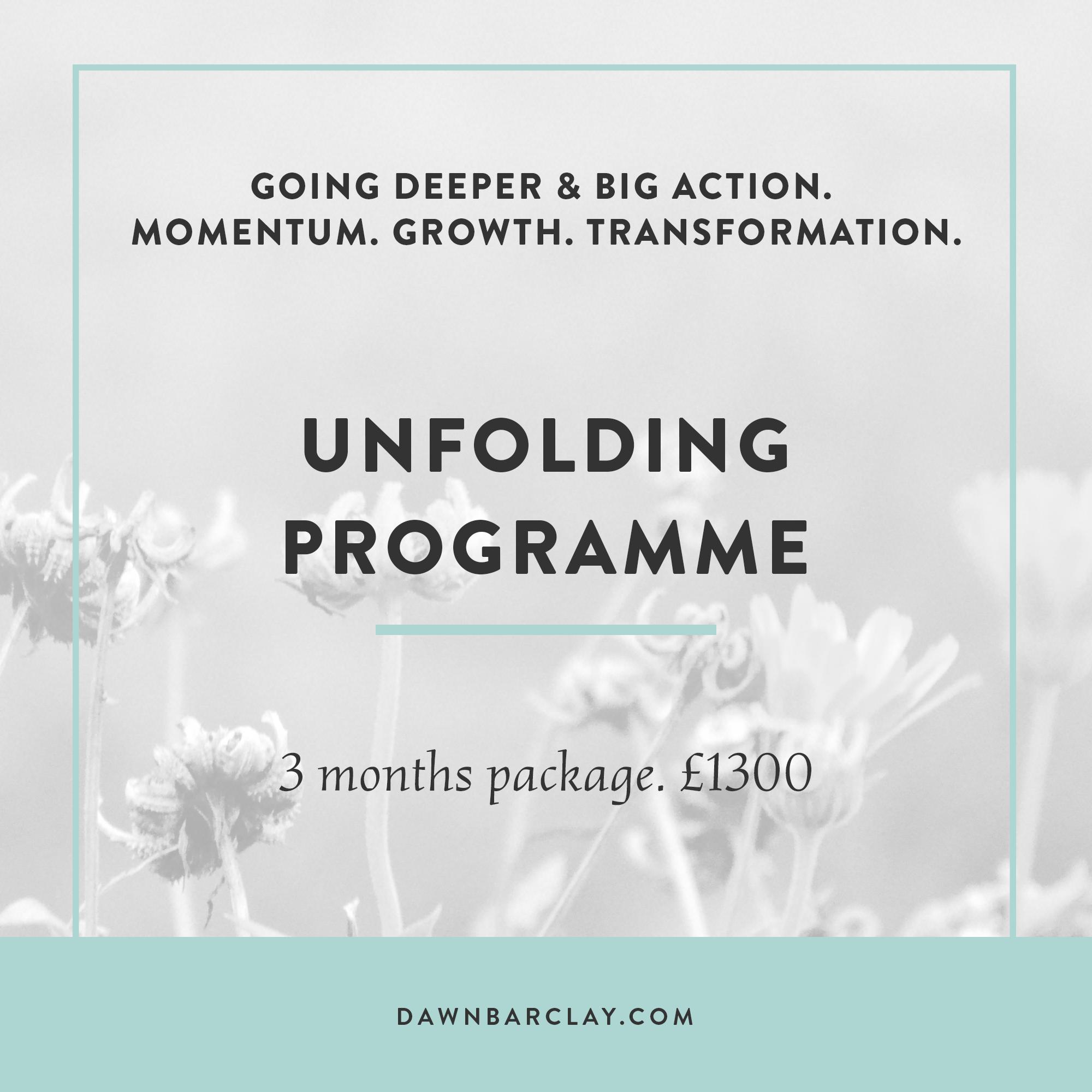 Unfolding Programme